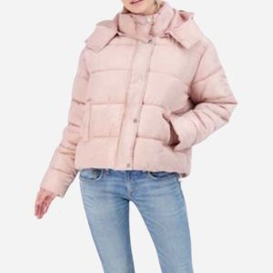 🌸New🌸 Sebby Hooded Puffer Jacket Pink Sz Large